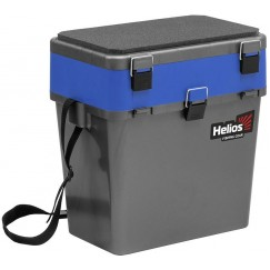 Ящик рыболовный зимний Helios 19 л (серый/синий)