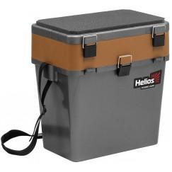 Ящик рыболовный зимний Helios 19 л (серый/золото)