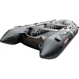 Надувная 4-х местная ПВХ лодка Hunter 350 ПРО КМФ (НДНД)