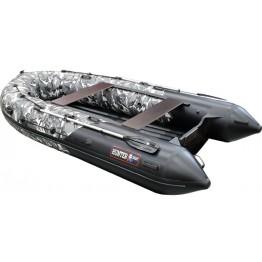 Надувная 5-местная ПВХ лодка Hunter 380 ПРО КМФ (НДНД)