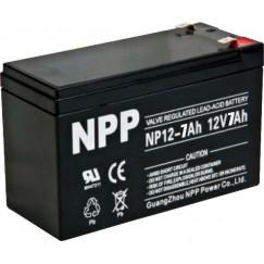 Аккумулятор свинцово-кислотный NPP NP12-7Ah 12V, 7Ah