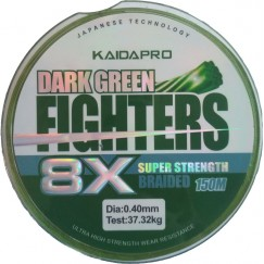 Леска плетёная Kaida Pro Fighters 8x 150 м (зеленая)