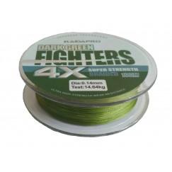 Леска плетёная Kaida Pro Fighters 4x 100 м (зеленая)