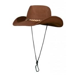 Шляпа Tagrider ковбойская с косичкой, коричневая