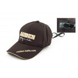 Кепка Raiden THY-02, коричневая, нейлон с клипсой
