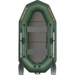 Надувная 2-местная ПВХ лодка Kolibri K-250T (пол-книжка)