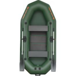 Надувная 2-местная ПВХ лодка Kolibri K-270T (реечный настил)