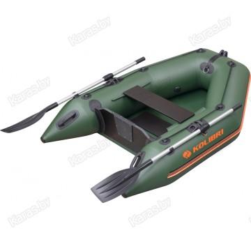 Надувная 1-местная ПВХ лодка Kolibri KM-200 (реечный настил)