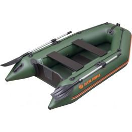 Надувная 2-местная ПВХ лодка Kolibri KM-260 (реечный настил)
