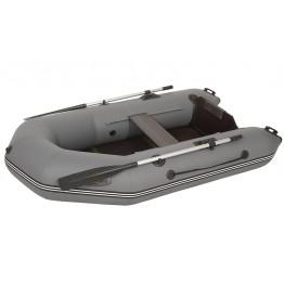 Надувная 1 местная ПВХ лодка Лоцман M-240 ЖС (серая)