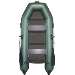 Надувная 2-местная ПВХ лодка Лодки Поволжья 2800 (зеленая, жесткая слань)