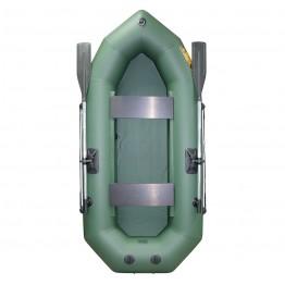 Надувная 2-местная ПВХ лодка Лодки Поволжья R-240 (зеленая)