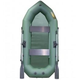 Надувная 2-местная ПВХ лодка Лодки Поволжья R-250 (зеленая)