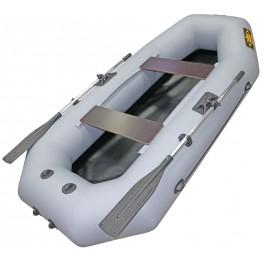 Надувная 2-местная ПВХ лодка Лодки Поволжья S-245 (серая)