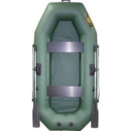 Надувная 2-местная ПВХ лодка Лодки Поволжья S-245 (зеленая)