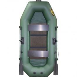 Надувная 2-местная ПВХ лодка Лодки Поволжья S-245 (зеленая, жесткая слань)