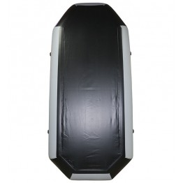 Надувная 2-местная ПВХ лодка Лодки Поволжья S-280 (серо-черная)