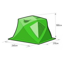 Палатка зимняя Лотос Куб 4 Классик Лонг (2.60x2.10x1.88 м)