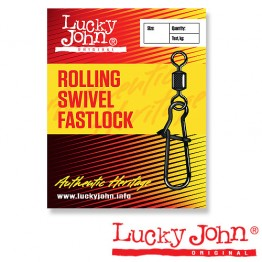 Вертлюги c застежкой Lucky John Rolling Swivel Fastlock