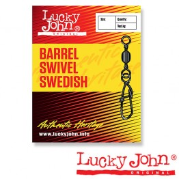 Вертлюги c застежкой Lucky John Barrel Swivel Swedish