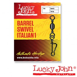 Вертлюги c застежкой Lucky John Barrel Swivel Italian 1