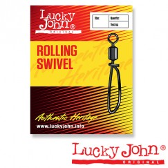 Вертлюги c застежкой Lucky John Rolling Swivel