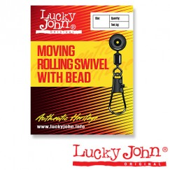 Вертлюги c застежкой MH скользящие Lucky John Moving Rolling Swivel With Head
