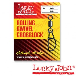 Вертлюги c застежкой Lucky John Rolling Swivel Crosslock