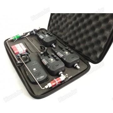 Набор сигнализаторов поклевки Mikado Carp Optima Territory со свингерами и пейджером (3+3+1)