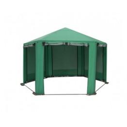 Шатер Митек Пикник Шестигранник 4х4м (зеленый)