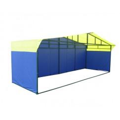 Торговая палатка Митек Домик 6.0x2.0м (квадратная трубка 40х20мм и 20х20мм)