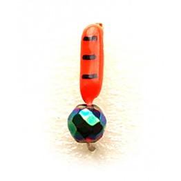 """Мормышка вольфрамовая """"Столбик"""" с граненым шариком """"Хамелеон"""" и ушком 1.5 мм (красная)"""