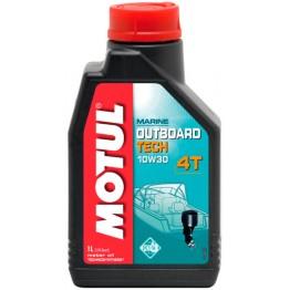 Моторное масло Motul Outboard Tech 4T 10W-30 - 1 литр