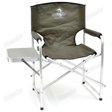 Кресло складное алюминиевое НПО Кедр AKS-06 с пластиковым столиком