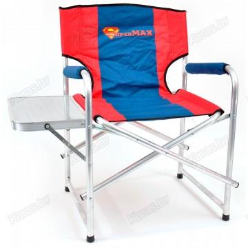 Кресло складное алюминиевое НПО Кедр SuperMax со столиком AKSM-02