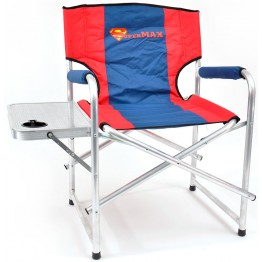 Кресло складное алюминиевое НПО Кедр SuperMax со столиком с подстаканником AKSM-04