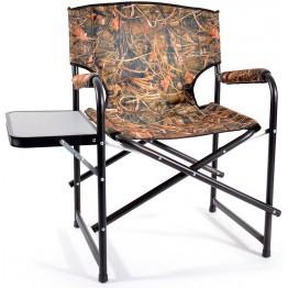 Кресло складное алюминиевое НПО Кедр SuperMax Camo со столиком AKSM-08