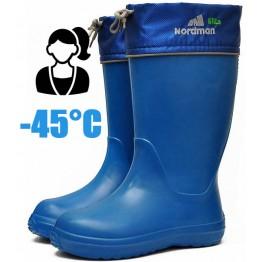 Сапоги зимние женские из ЭВА NordMan Sila (синие)