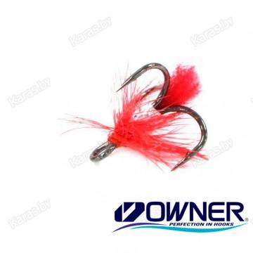 Крючок тройник Owner с мухой №16 TROMU16