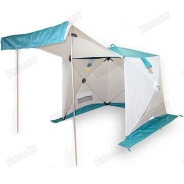 Всесезонная палатка Пингвин Призма Шелтерс (1.85х1.85х1.75 м, бело-синяя)