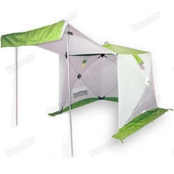 Всесезонная палатка Пингвин Призма Шелтерс (1.85х1.85х1.75 м, бело-зеленая)