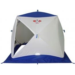 Палатка зимняя Пингвин Призма (1.85х1.85х1.75м, бело-синяя)