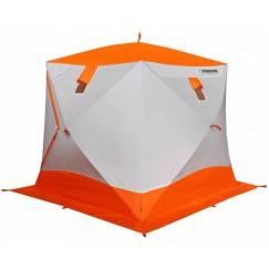 Палатка зимняя Пингвин Призма Премиум Strong (2.25х2.15х2.0м, бело-оранжевая)
