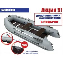 Надувная 6-местная ПВХ лодка Посейдон Сапсан SN-380 (+ ПОДАРОК)
