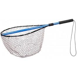 Подсачек складной SPRO Rubber mesh Landing net BLUE 132 см