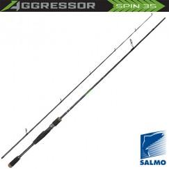 Спиннинг Salmo Aggressor SPIN 35, углеволокно, штекерный, 2,1 м, тест: 10-35 г, 142 г