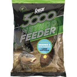 Прикормка Sensas 3000 Method Feeder Bream&Big Fish 1 кг (крупная рыба)