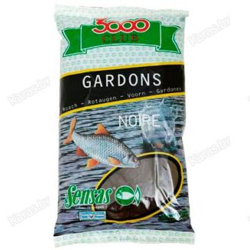 Прикормка Sensas 3000 Club Gardons Noire 1 кг (черная, плотва)