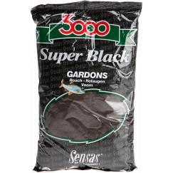 Прикормка Sensas 3000 Super Black Gardons 1 кг (черная, плотва)