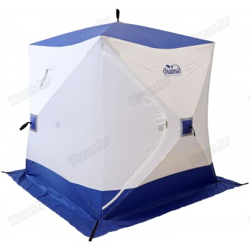 Палатка зимняя Следопыт КУБ 4 бело-синяя (2.1х2.1х2.14 м)